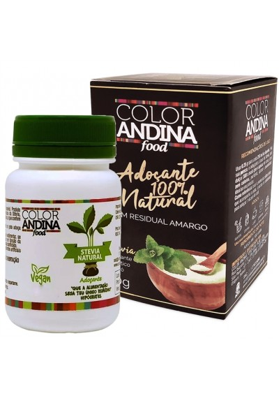 Adoçante Color Andina Stévia20G 100% Natural S/ Residual Amargo