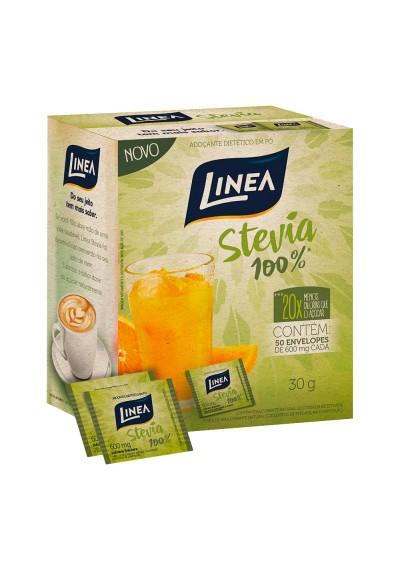 Adoçante Stevia 100% Linea c/50 Envelopes