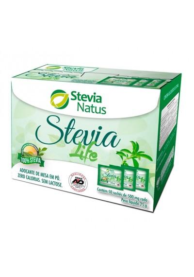 Adoçante em Pó Stevia Life 50 sachês