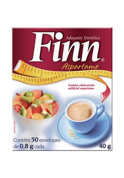 Adoçante Finn Aspartame 50 Envelopes Caixa 40g