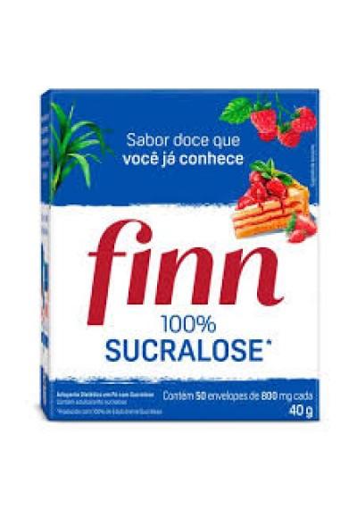 Adoçante Finn 100% sucralose c/ 50 envelopes Caixa 40g