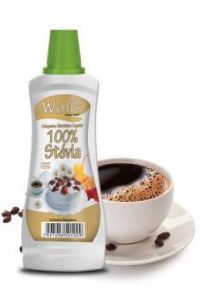 Adoçante 100% stevia liquido Wolfs 100ml