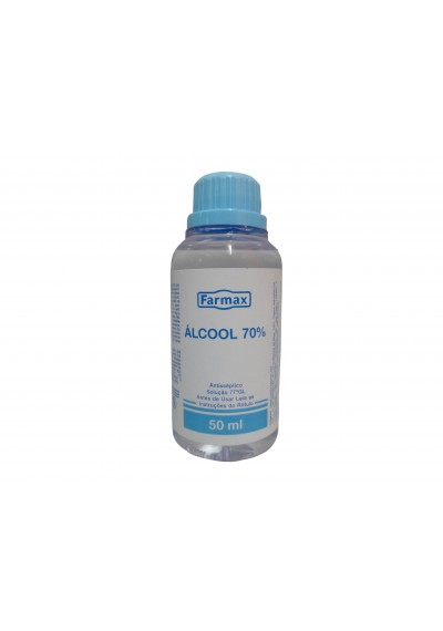 Álcool 70% Farmax 50mL