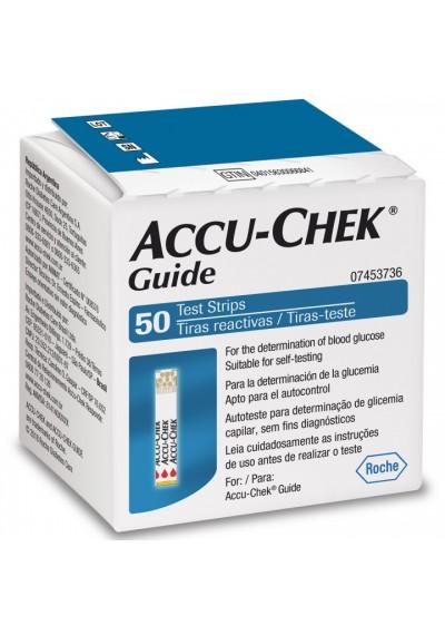 fita teste glicose Accu-chek Guide c/50