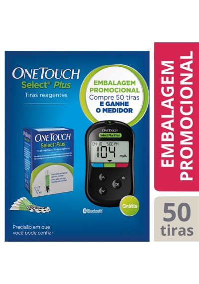 Kit Promocional Compre 50 Fitas  One Touch select Flex -Ganhe monitor + 1 necessaire