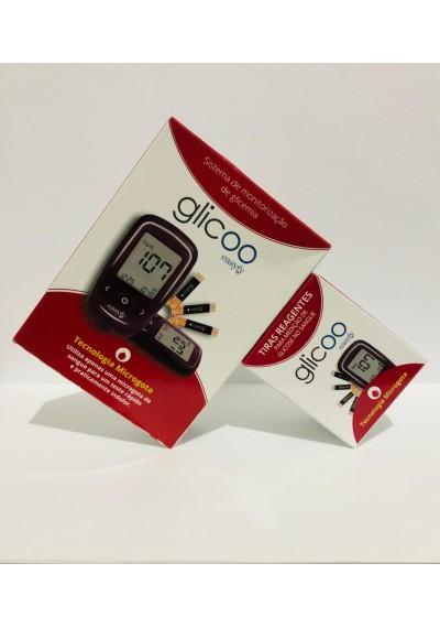 Kit Monitor + 50 Tiras Para Monitorar Glicemia - Glicoo Easyfy