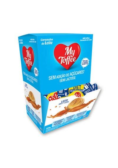Bala de Caramelo Leite My Toffee Diet S/ Lactose - (Milk - Leche) Caixa 390g