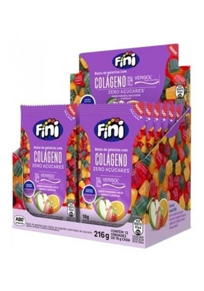 Bala de gelatina Colágeno Fini 18g