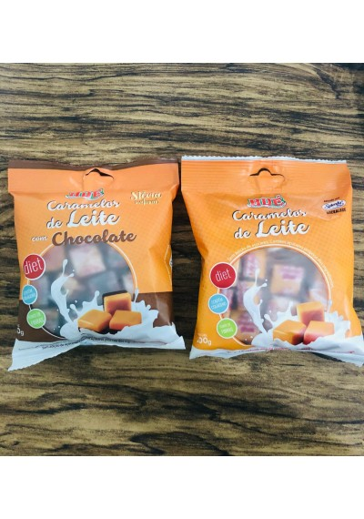 Balas Caramelo de Leite Diet Hué 100g sem glúten
