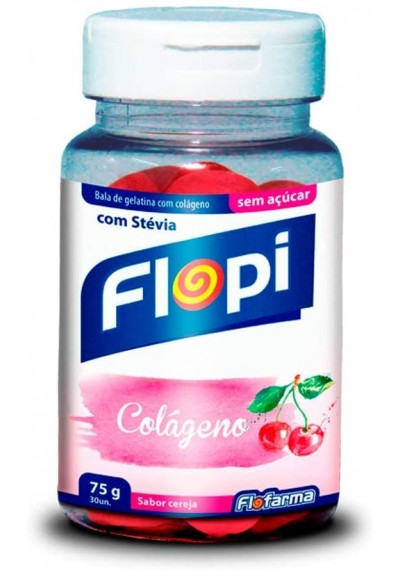 Bala de Gelatina c/ Colágeno Flopi 30 Un 75g
