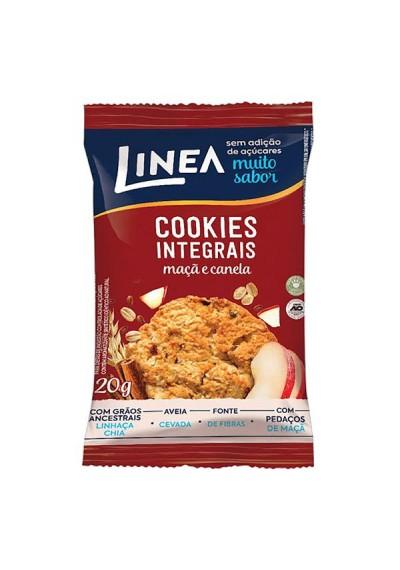 Cookies Integrais Maçã e Canela C/ Pedaços de Maçã Linea 120g