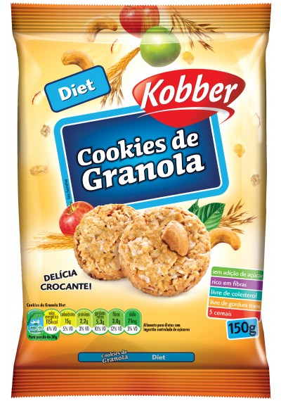 Cookie de Granola Diet Kobber 150g