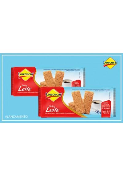 Biscoito sabor Leite Lowçucar 140g