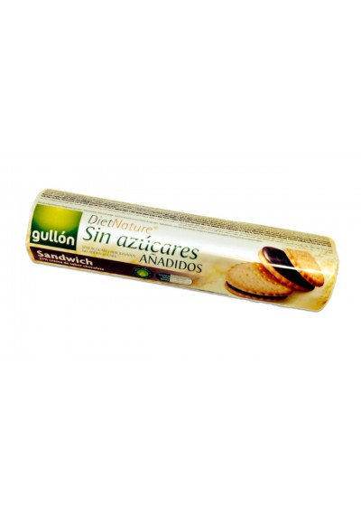 Biscoito sandwich Diet Gullon 250G Chocolate