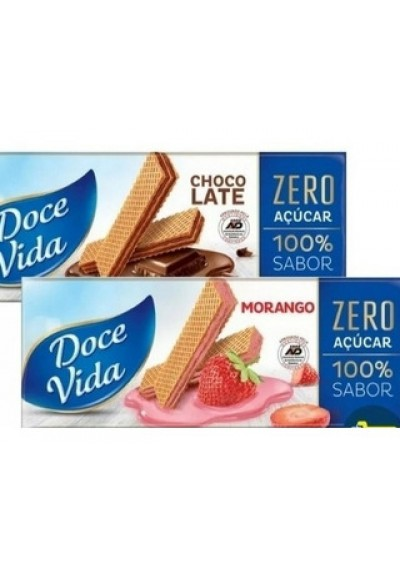 Wafer (waffer) Doce Vida zero Açúcar