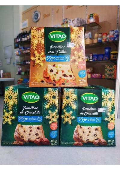 Panetone Zero Açúcar  Lactose Vitão (Chocolate, Com Frutas) 400g