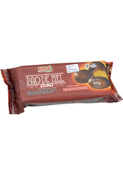 Pão de Mel Zero Açúcar Coberto c/ Chocolate Sem Lactose Hué 80g e sem ovos