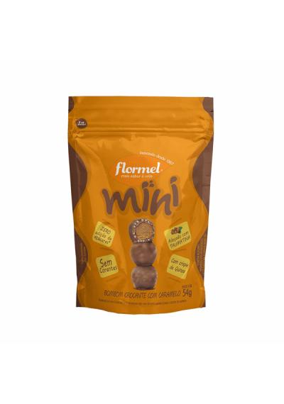 Mini Bombom  crocante caramelo Flormel 54 grs