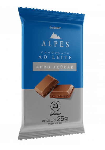 Chocolate Salware Alpes Zero Açúcar 25g