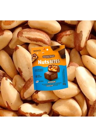 Bombom Nuts Bites Vegano Sem Glúten - Banana Brasil 60g