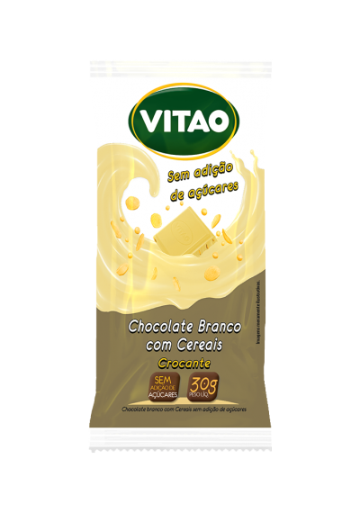 Chocolate Branco c/ Cereais Crocantes Vitao 30g