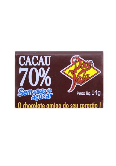 Chocolate 70% Cacau - Doce Vida 14g