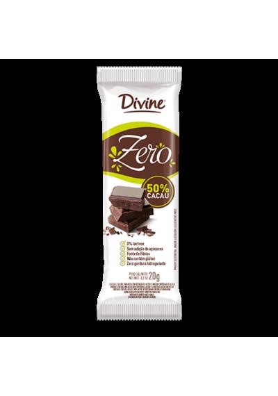 Chocolate Divine 50% Cacau S/ Lactose e S/ Glúten 20g