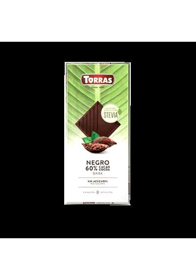 Chocolate Negro 60% Cacau s/ Glúten Torras 100g