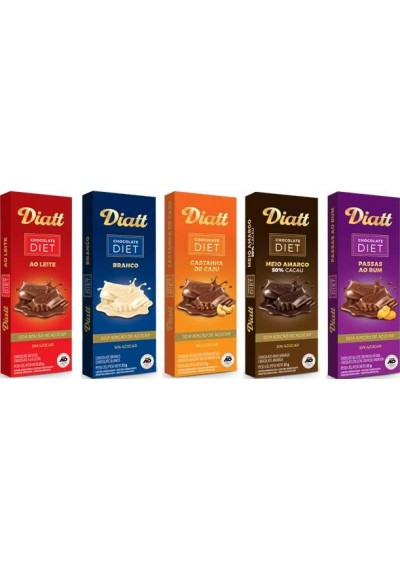 Chocolate Barra Diatt Zero 25grs