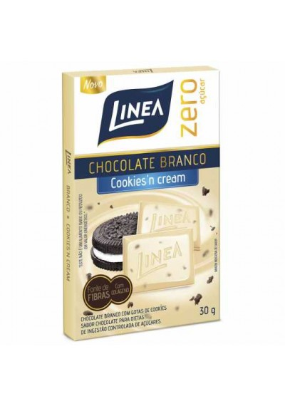 Chocolate Branco Cookies cream Linea 30grs