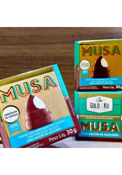 MUSA wafer com marshimallow coberto com chocolate 30g