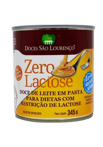 Doce de leite zro açucar e zero Lactose Sao lourenço 345grs