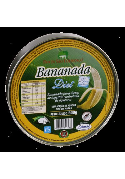 Bananada Diet Lata 500g São Lourenço