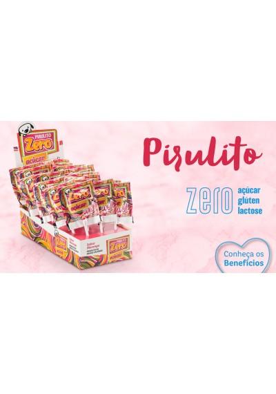 Pirulito Zero Well Morango Doce Amor