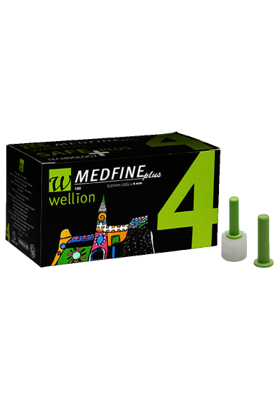 Agulha Medfine Plus c/ 100 unidades para Caneta 4 mm,  5 mm.