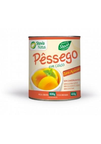 Pêssego em calda diet Stevia Natus 800G