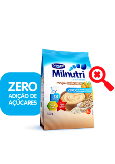 Cereal Infantil zero açucar Multicereais Milnutri 150grs