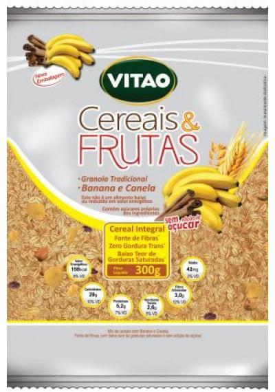 Cereais e Frutas Sem adição de Açúcar Vitao 300g
