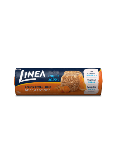 Biscoito integral laranja e cenoura  Linea 120grs