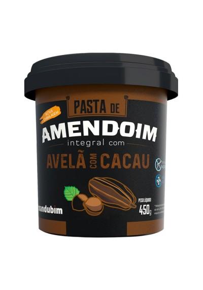 Pasta Amendoim integral Avelã com Cacau Mandubim 450 grs