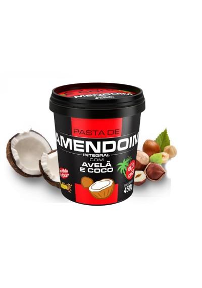 Pasta de Amendoim Integral c/avelã e óleo coco 450 g