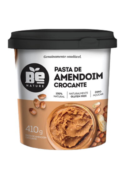 Pasta de Amendoim Crocante Be Nature 410g