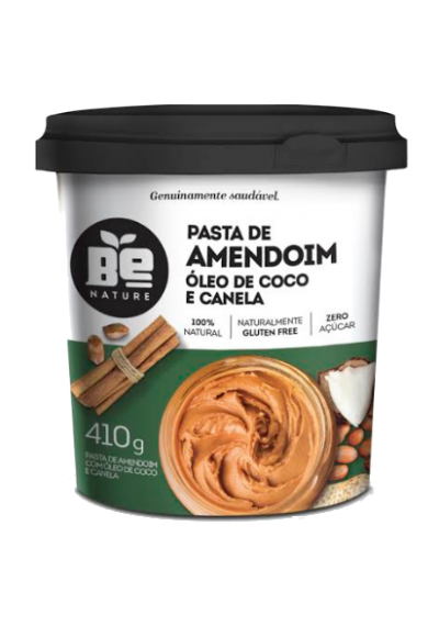 Pasta de Amendoim Oleo de Coco e Canela Be Nature 410g