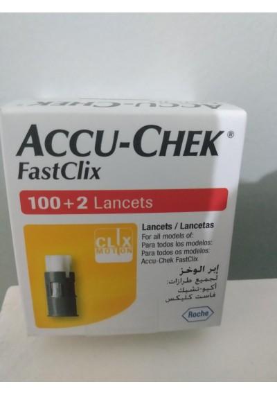 Lancetas Fastclicx 100+2  Roche