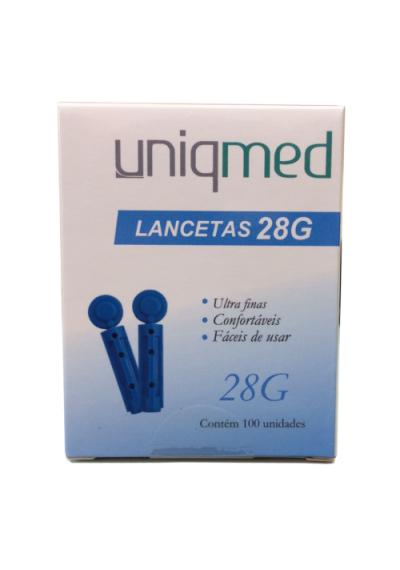 Lancetas Uniqmed 28G c/ 100