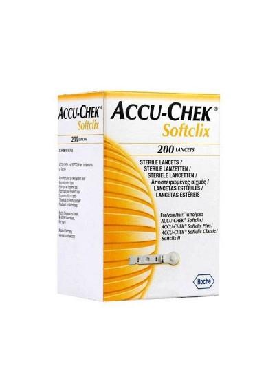 Lancetas Accu-Chek Softclix c/ 200 (para uso softclix plus e softclix Classic)