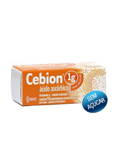 Cebion 1 g Sem Açúcar Sabor Laranja