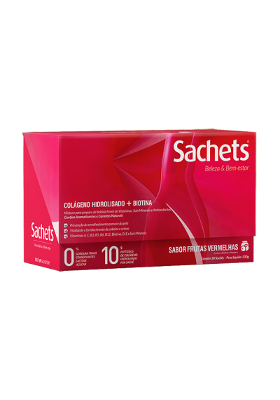 Colágeno Hidrolisado + biotina Sachets Brasil c/30