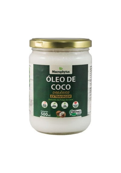 Óleo de coco orgânico Extravirgem 500 g