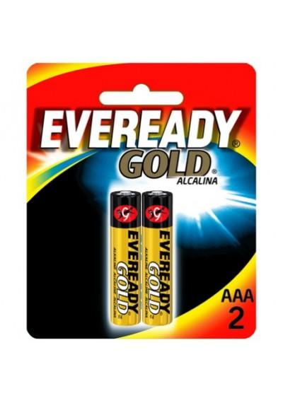 Pilha Alcalina AAA 2 Gold Eveready